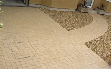 traditional paving